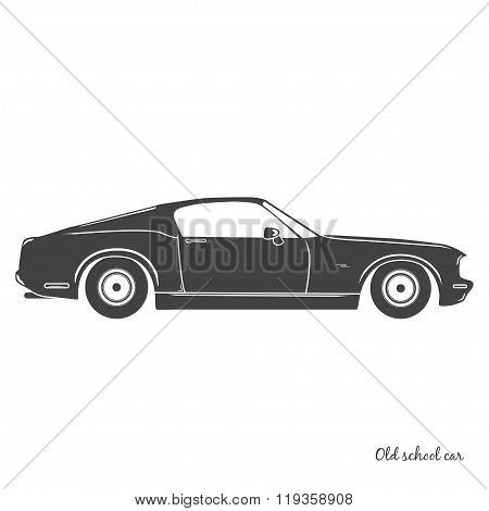 Old vintage classic car icon. Vector illustration