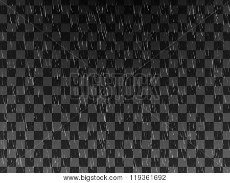 Rain. Background With Rain. Rain Drops On The Transparent Background. Rainy Weather