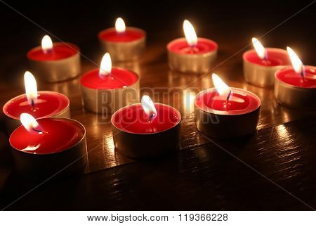 Bewitching light of candles for romantic evening