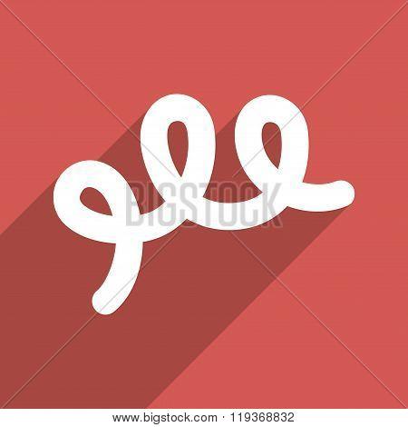 Spiral Bacillus Flat Longshadow Square Icon