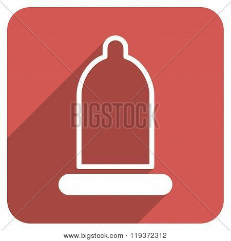 Preservative Flat Rounded Square Icon with Long Shadow