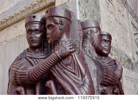 Portrait Of Four Tetrarchs In Venice, Italy