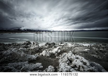 Mono Lake  In Storm
