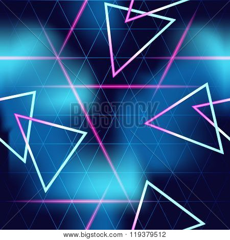 80's futuristic seamless neon background