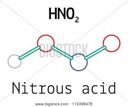 HNO2 nitrous acid molecule