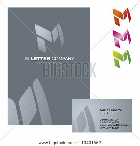 Template corporate company signs M-letter_logo_04
