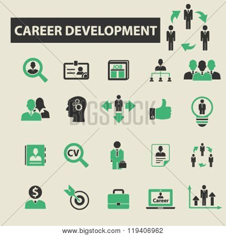 career job icons, career job logo, career job vector, career job flat illustration concept, career job infographics, career job symbols,
