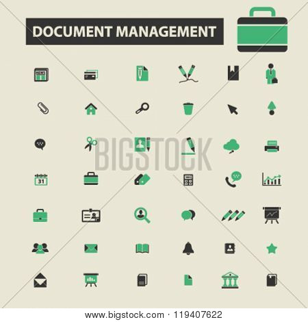 document management icons, document management logo, document management vector, document management flat illustration concept, document management infographics, document management symbols,
