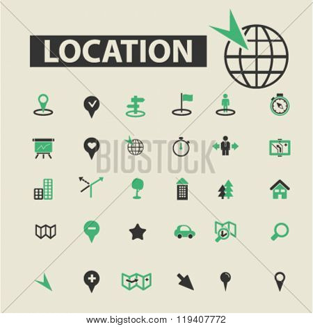 location icons, location logo, location vector, location flat illustration concept, location infographics, location symbols,