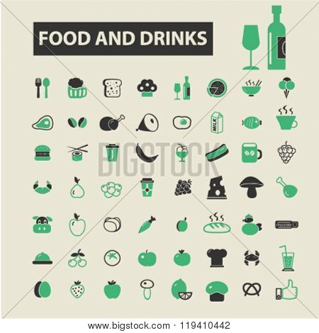 food and drinks icons, food and drinks logo, food and drinks vector, food and drinks flat illustration concept, food and drinks infographics, food and drinks symbols,
