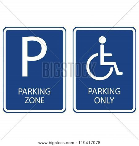 Blue Parking Signs
