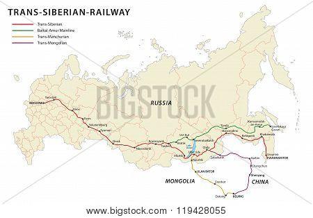 Trans-sibirian-railway map
