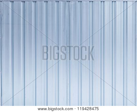 Shining Blue Ridged Steel Wall, Background Texture