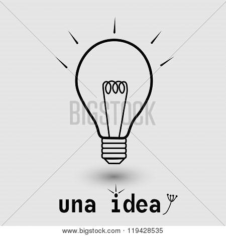 Una idea illustration