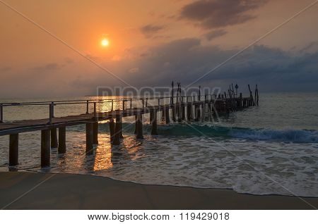 Old Wood Pier, Sunset