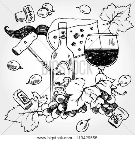 Wine Stuff Background