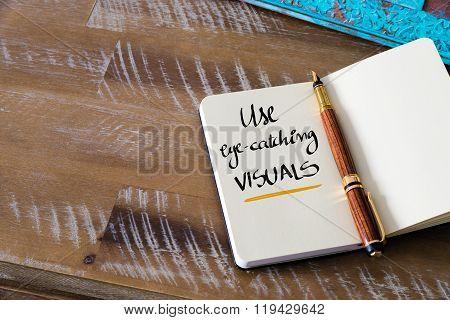 Handwritten Text Use Eye-catching Visuals