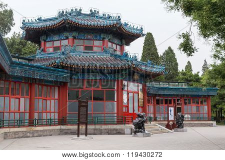Beijing, China - Circa September 2015: Old Traditional Park In Beijing,  China