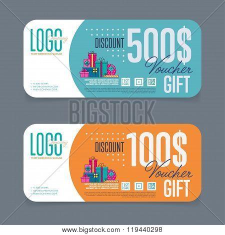 Gift Voucher Template Discount Vector Photo Bigstock