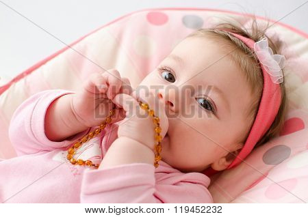 Teething Baby Girl