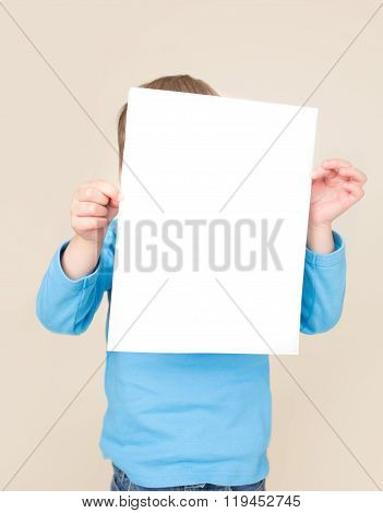 Child Holding Sign, Kids Education