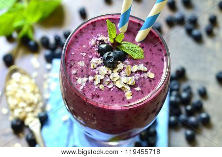 Blackberry And Banana Smoothie.