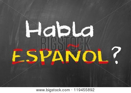 Habla Espanol question for learning spanish