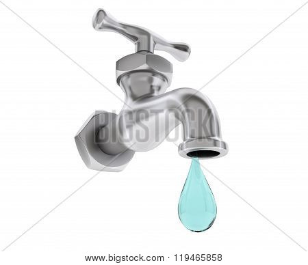 Chrome Water Tap With Drop