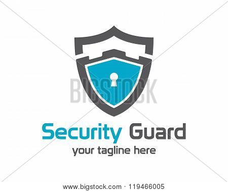 Security Guard Logo Design Vector. Security Protection Shield Symbol . Secure Shield Icon Vector.