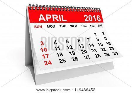 Calendar April 2016