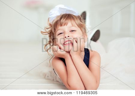 Laughing kid girl