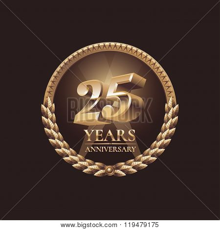 Twenty five years anniversary celebration design