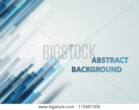 Abstract Technology Contour Objects.financial Business
