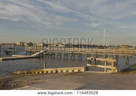 Scenic Sunset Boating On The Atlantic Intracoastal Waterway