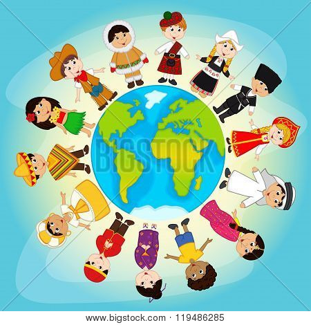 multicultural people on planet Earth