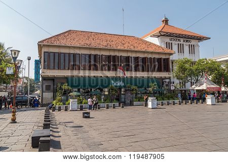 Jakarta, Indonesia - Circa October 2015: Cafe Batavia In Old Town  Jakarta