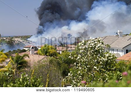 Fire In Carlsbad, California