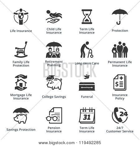 Life Protection Icons