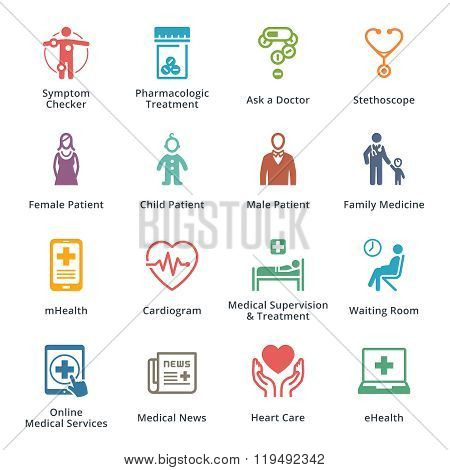 Medical & Health Care Icons Set 2 - Colored Series