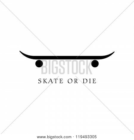 Skate Icon Illustration In Black