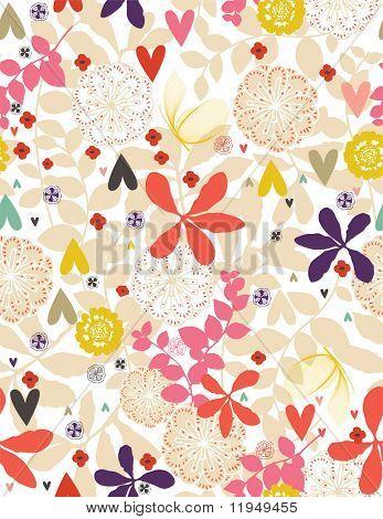 Floral Garden (Seamless Pattern) illustration