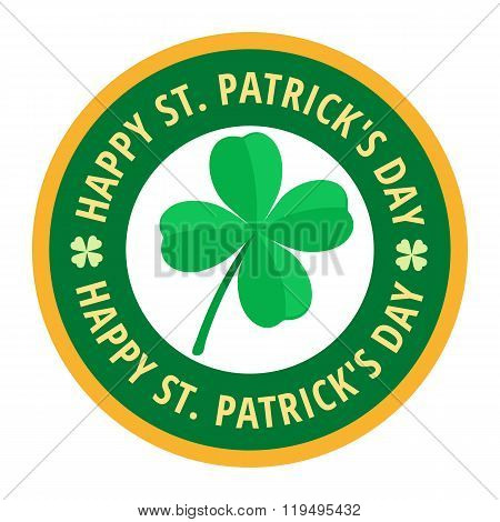 Happy Saint Patricks day greeting card label