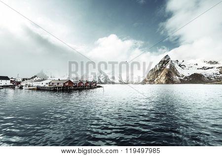 spring sunset - Reine, Lofoten islands, Norway