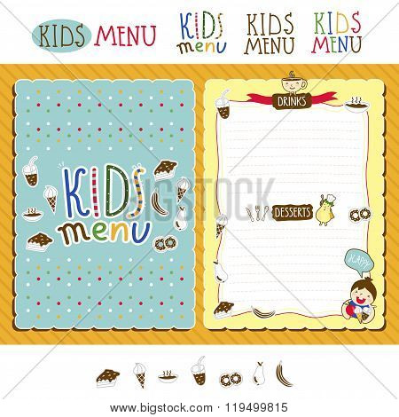 kids menu kids vector photo free trial bigstock