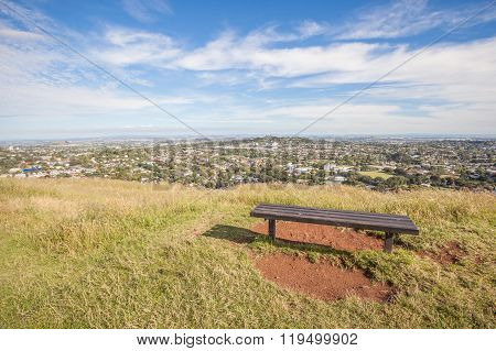 The Scenic Auckland's City View From The Top Of Mount Eden.