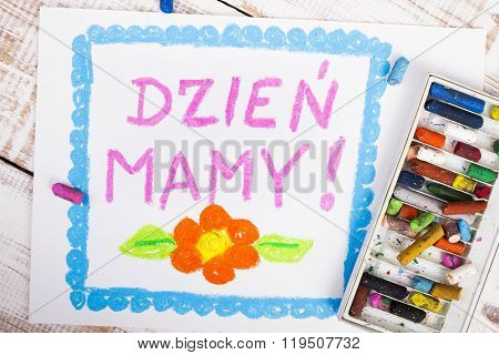 Polish mothers day card with words