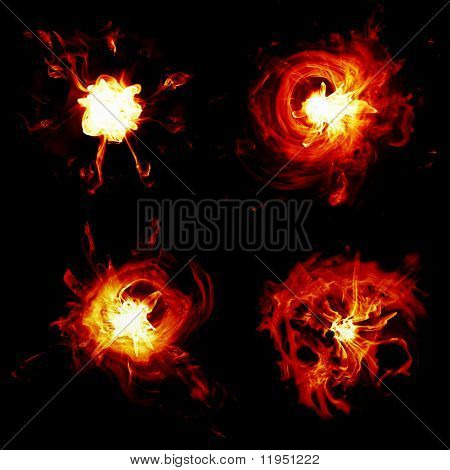 different explosions