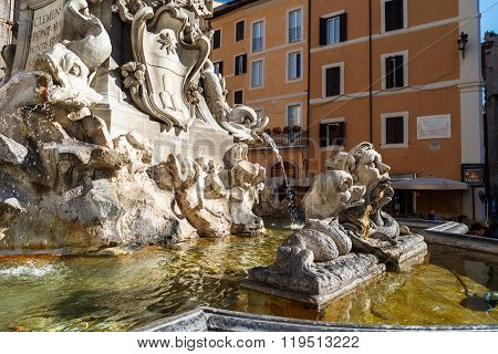 Detailed Fountain View