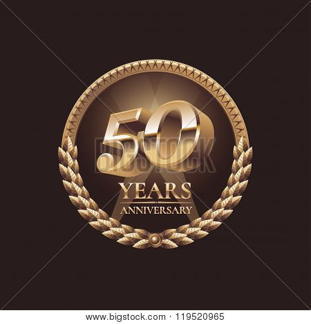 Fifty years anniversary celebration design