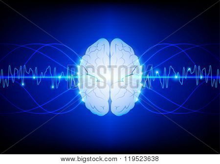 Abstract Innovation Brain  Technology  Background. Illustration Vector Design